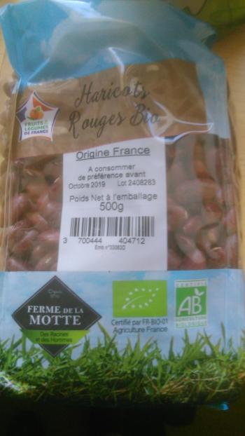 Haricot sec rouge BIO France (500g)